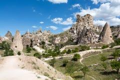 Vue de château d'Uchisar dans Cappadocia Photo libre de droits