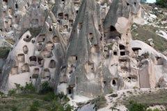 Vue de château d'Uchisar dans Cappadocia Image stock