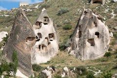 Vue de château d'Uchisar dans Cappadocia Photographie stock