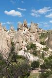 Vue de château d'Uchisar dans Cappadocia Image libre de droits