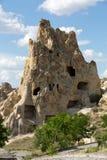 Vue de château d'Uchisar dans Cappadocia Photos libres de droits