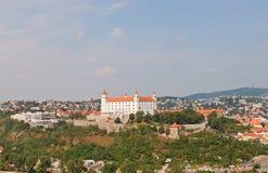 Vue de château de Bratislava à Bratislava, Slovaquie Image stock