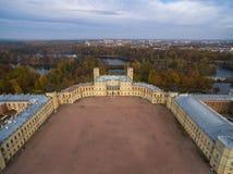 Vue de château de Gatchina à partir du dessus, Russie, St Petersbourg Photographie stock libre de droits