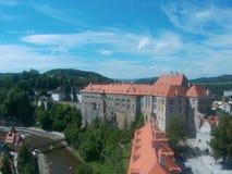 Vue de château de Krumlov de ½ d'ÄŒeskà Photo libre de droits