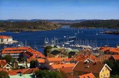 Vue de château de Marstrand Images stock
