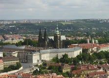 Vue de château de Prague photographie stock libre de droits
