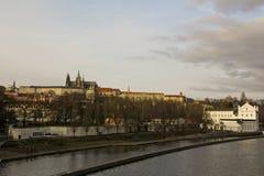 Vue de château de Prague Image stock