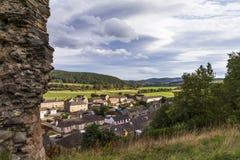 Vue de château de Rothes. Image stock