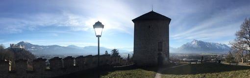 Vue de château de Salzbourg Photographie stock