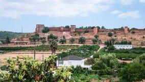 vue de château de Silves de côté de pays Photos libres de droits