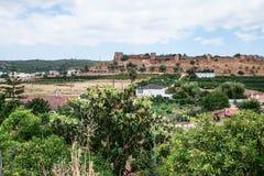 vue de château de Silves des jardins ruraux Photographie stock libre de droits