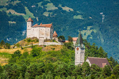 Vue de château de Vaduz, Lichtenstein Image stock