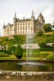 Vue de château Ecosse R-U de Dunrobin images libres de droits