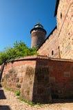 Vue de château impérial - symbole de Nuremberg Le château impérial est château de Roman Empire Nurnberg, Franconia moyen, Bavière images libres de droits