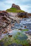 Vue de château de Lindisfarne Photographie stock libre de droits