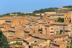 Vue de château médiéval à Urbino, Marche, Italie photos stock
