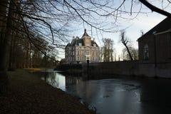 Vue de château médiéval Soelen le soir Photo stock