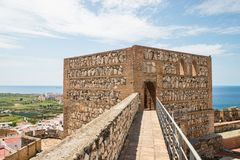 Vue de château de Salobrena Images libres de droits
