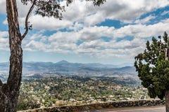 Vue de chaîne de montagne en San Diego From Mt helice photo stock