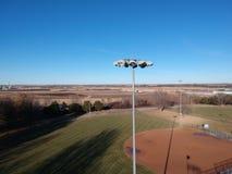 Vue de champ de base-ball d'en haut photographie stock