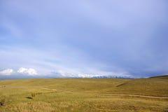 Vue de champ et de mountines Photo libre de droits