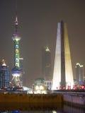 Vue de Changhaï au-dessus de région de Pudong Image stock