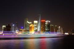 vue de Changhaï de nuit Images libres de droits