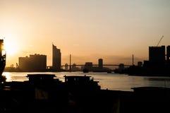Vue de Chao Phraya River Photo libre de droits