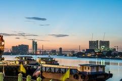 Vue de Chao Phraya River Photo stock