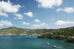 Vue de Charlotte Amalie, rue Thomas Photo libre de droits