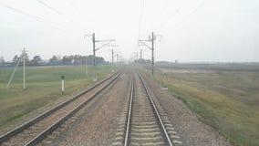 Vue de chemin de fer de cabine locomotif clips vidéos