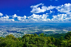 Vue de Chiang Mai de Doi Suthep, Thaïlande Photos stock
