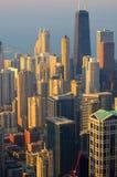 Vue de Chicago à partir du dessus Photo libre de droits