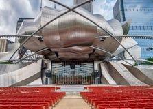 Vue de CHICAGO, IL le 4 juillet 2017 - de Jay Pritzker Music Pavilion Photographie stock