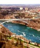 Vue de chutes du Niagara à partir du dessus Photos stock