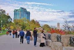 Vue de chutes du Niagara de Canada Photographie stock