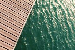 Vue de ci-dessus du pilier en bois Photographie stock