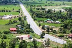 Vue de ci-dessus du transport rural d'agriculture Photographie stock libre de droits
