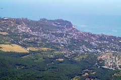 Vue de ci-dessus sur la côte Crimée de la Mer Noire photographie stock libre de droits