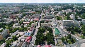 vue de ci-dessus sur la ville de Lipetsk en Russie Images libres de droits