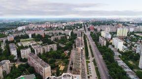 vue de ci-dessus sur la ville de Lipetsk en Russie Image stock