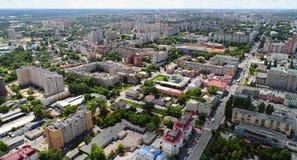vue de ci-dessus sur la ville de Lipetsk en Russie Image libre de droits