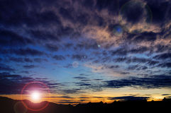 Vue de ciel Image stock