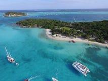 Vue de ciel - bancs de sable du Tobago Photographie stock