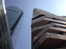 vue de ciel dans une ville Photos stock