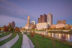 Vue de Columbus Ohio Skyline du centre Photo stock