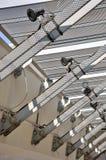 Vue de construction de structure métallique Photo stock