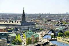 Vue de Copenhague, Danemark Photographie stock libre de droits
