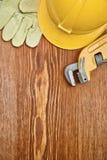 Vue de Copyspace sur les outils de travail sur le panneau Images stock