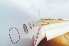 Vue de corps d'avion Image stock